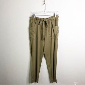 NWT Dolman Guacamole Paper Bag Waist Pants-Sz M